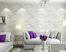beibehang Modern minimalist thick gray brick wallpapers for living room Barber hot pot 3D solid foam bricks 3d wallpaper behang