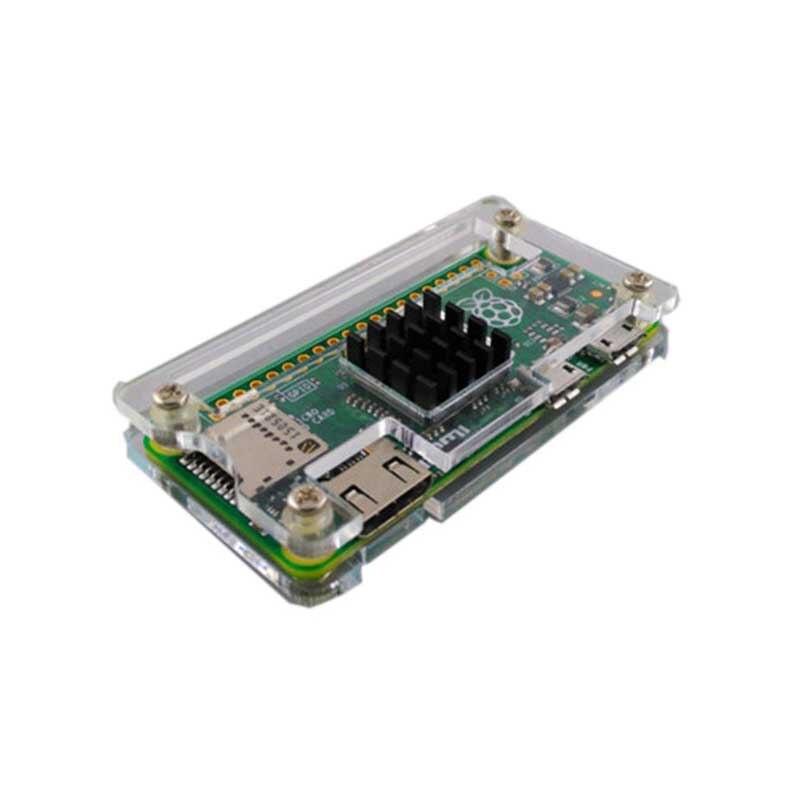 Raspberry Pi Zero W Wireless Acrylic Case With Heat Sink Clear Black Enclosure Blue Box For RPI Zero W Wireless