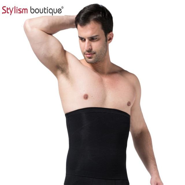 47ea60fc32b Men s Belt Body Shaper Men Slimming Waist Trimmer Belt Corset Beer Belly  Wrap Fat Cellulite Burner Tummy Control Stomach Girdle