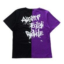Детская Хлопковая цветная футболка для бега топы для девочек и мальчиков, одежда в стиле хип-хоп Одежда для танцев костюмы для бальных танцев, джазовых танцев