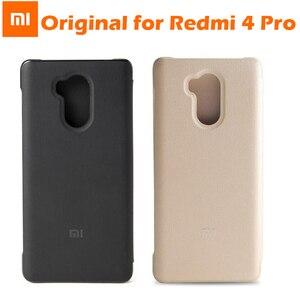 Image 3 - מקורי xiaomi redmi 4 פרו Flip מקרה כיסוי עור PU + מחשב xiaomi redmi 4 נייד מגן