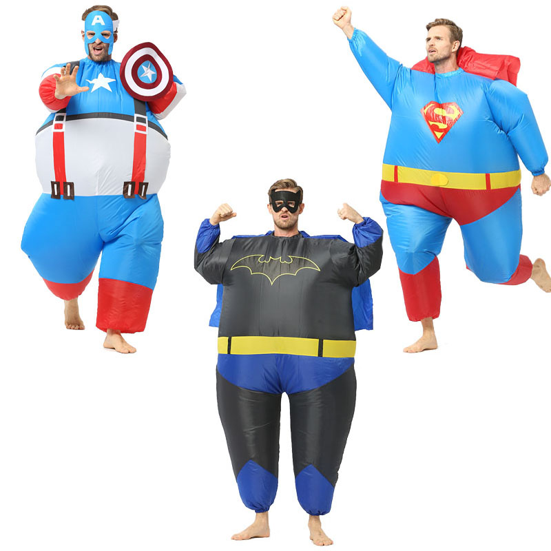 heroes Costume Christmas Carnival Costume Party Dress Inflatable Penesas Ride On Costume Purim Halloween for Adults