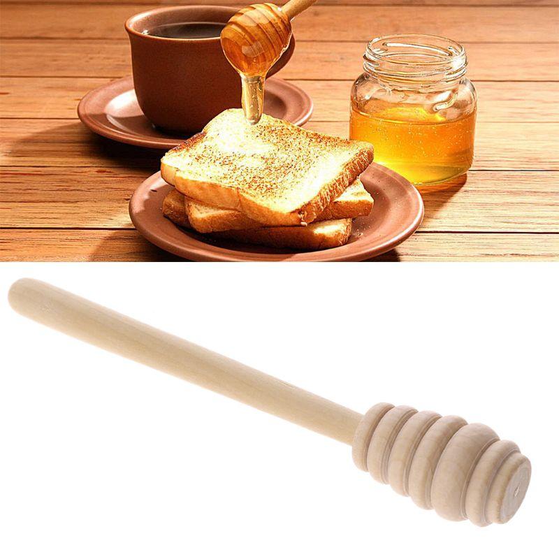 Hout Honing Roer Bar Mengen Handvat Pot Lepel Dipper Honing Lange Stok Levert Honing Keuken Gereedschap En Om Een Lang Leven Te Hebben.