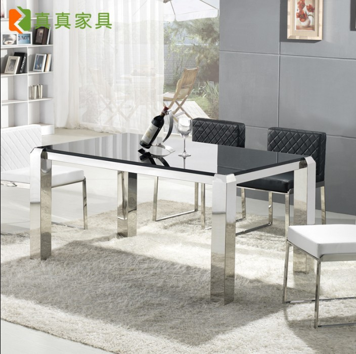 Barbara Dinette Table And Dining Table Combination Modern Minimalist Stainless Steel Tempered Glass Table Ikea Furniture Special Table Plastic Furniture Steelfurniture Customer Aliexpress