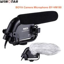 BOYA BY-VM190 супер-кардиоидный конденсаторный микрофон 3.5 мм микрофонный разъем для Canon Nikon Sony Pentax DSLR Камера видеокамера DV DC