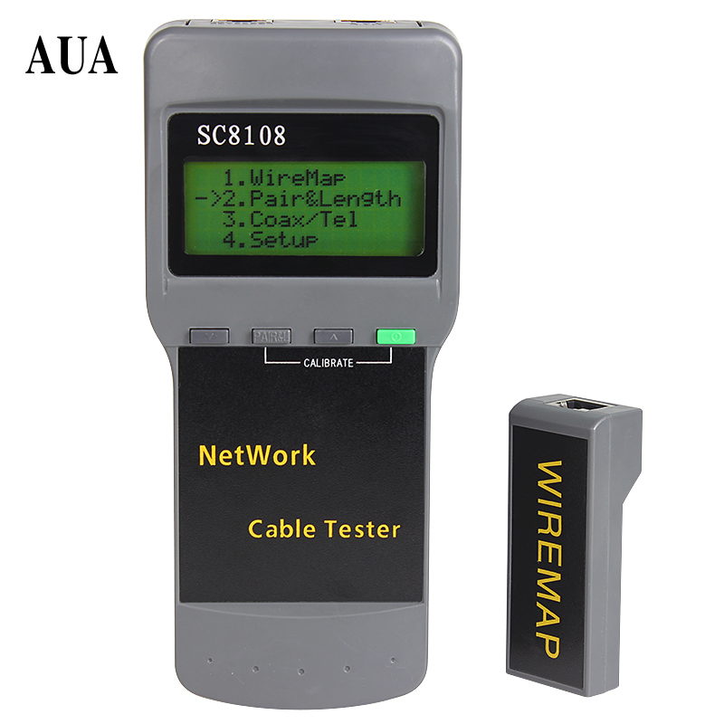 SC8108 Portable LCD Network Tester Meter&LAN Phone Cable Tester & Meter With LCD Display RJ45 Free Shipping(China)