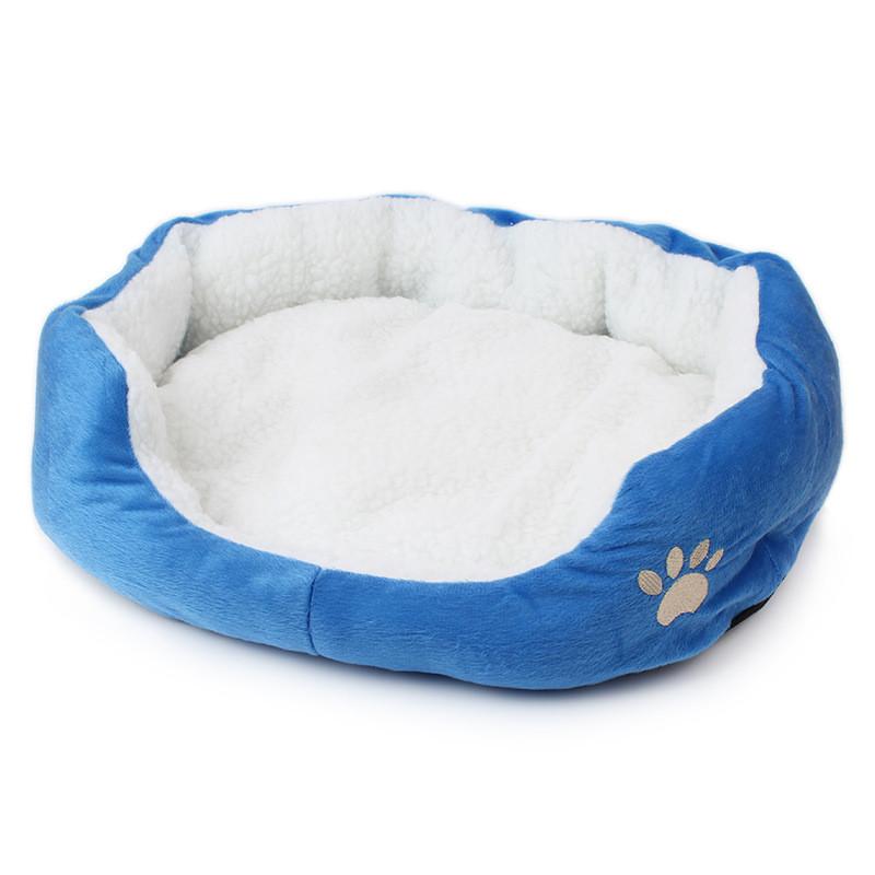 Cat Bed: Super Cute Soft Fluffy Cotton Bed Blue