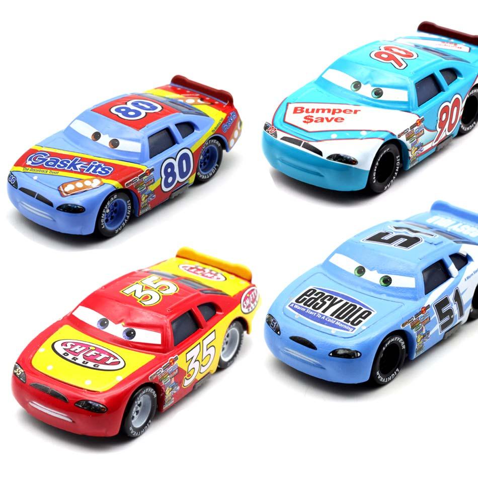 все цены на Disney 14 Style Pixar Cars 2 3 Racing NO.80 90 51 35 Diecast Hutodoroki Metal Toy Car For Children 1:55 Loose Brand New In Stock онлайн