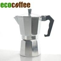 2017 Nieuwe Collectie Real Diy Gevulde Milieuvriendelijke 1 pc Gratis Verzending 3/6/9/12 Cups Hoge kwaliteit Espresso Aluminium Koffie Makers