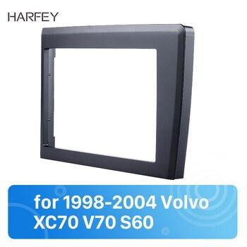Harfey 2din רכב רדיו Fascia עבור 1998 1999 2000 2001 2002 2003 2004 וולוו XC70 V70 S60 סטריאו צלחת לקצץ ערכת מסגרת 173*98mm