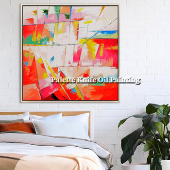 Canvas oil painting wall art pictures for living room home decor abstract color hand painted quadros art cuadros decoracion