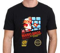 T Shirt Casual Gildan Super Mario Brothers Retro Nes Game Short Sleeve Men Fashion 2017 Crew