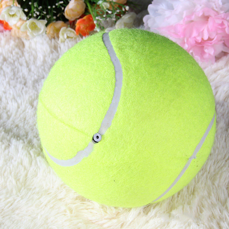 6.5CM Giant Tennis Ball For Pet Chew Toy Tennis Ball Signature Mega Jumbo Pet Toy Ball Supplies Outdoor Cricket