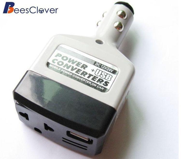 Adeeing автомобильный преобразователь мощности инвертор 12 V/24 V для 220V адаптер переменного тока при использовании автомобильного зарядного устройства гнездо для автомобильного прикуривателя Мощность+ USB конвертер r35