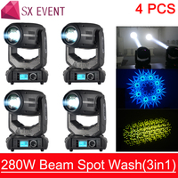 High configuration beam spot wash 3in1 concert stage equipment 280w beam spot event stage light moving head lighting