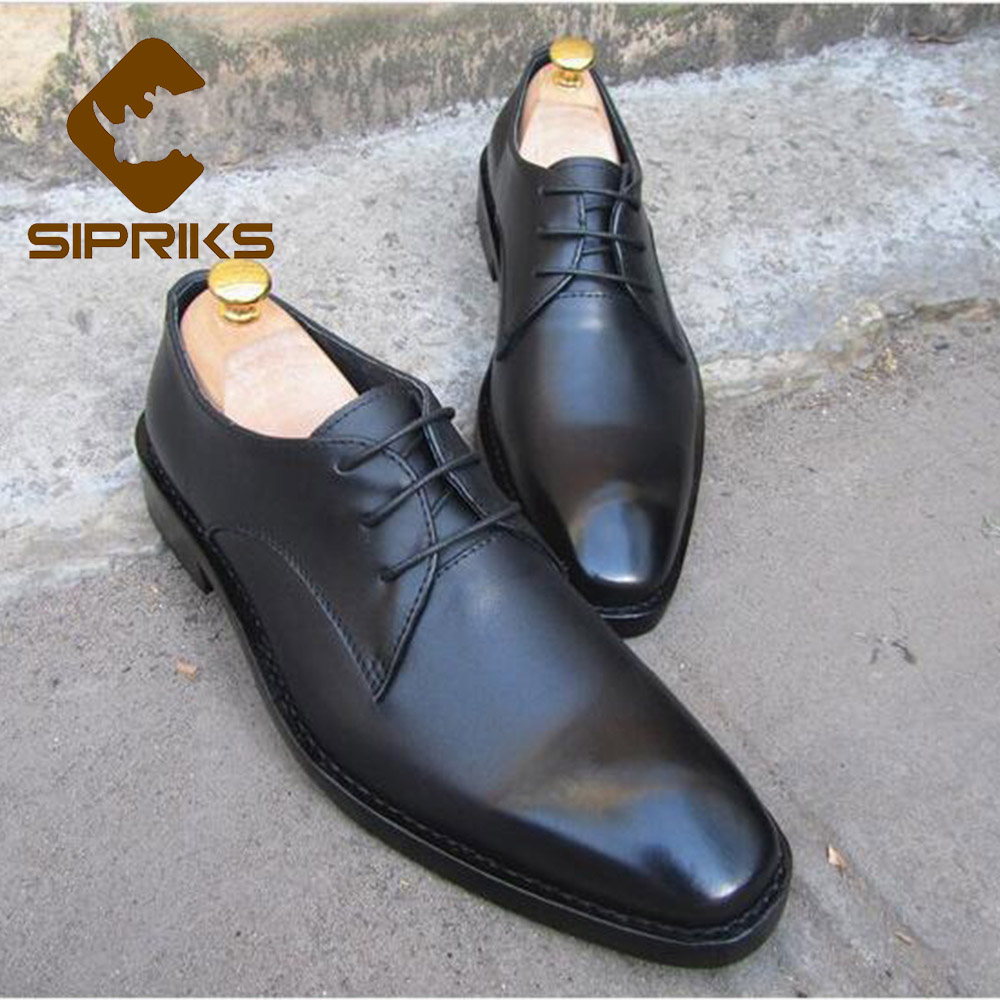 Sipriks mens goodyear welted shoes elegant boss shiny tuxedo shoes italian mens leather dress shoes black male wedding shoes new luxury bespoke goodyear welted shoes elegant mens dress shoes italian unique boss wingtips shoes italian grooms wedding shoes