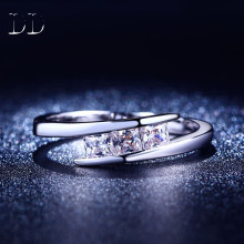 vintage White gold plated purple AAA cubic zircon diamond rings for women delicate weddings engagement party ring jewelry DD215