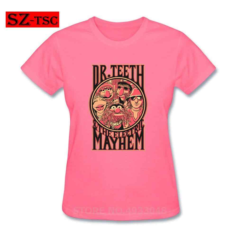 Grappige Muppets Show Dr Tanden T shirt Vrouwen De elektrische mayhem t-shirt comic manga anime t-shirt Vrouwen humor cartoon tee shirts