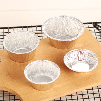 200Pcs Free shipping Bake mold Disposable tin foil egg tarts mold Pudding cup egg tarts mold Mold Cake Cup Pastry Tools