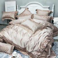 Luxe Beddengoed Set King Queen Size 4/7pcs 1000TC egyptische Katoenen Beddengoed Dekbedovertrek Laken Set kussenslopen
