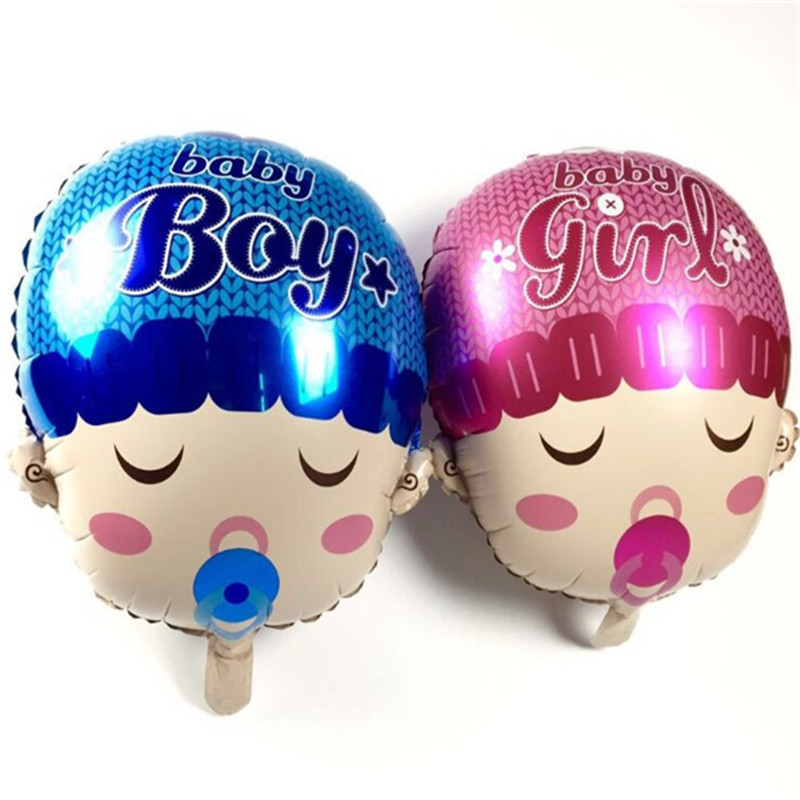 1 piece Baby Balloons Blue and Pink Balloons Children Birthday Balloons Birthday