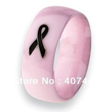 Free Shipping USA Hot Selling E&C JEWELRY Unique 8MM Classic Pink Ceramic With Ribbon Design Women&Men's Best Wedding Band