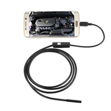 Waterproof 6 LED 7mm Lens Endoscope Inspection Borescope Tube Camera 1M For Andorid Phone 80620