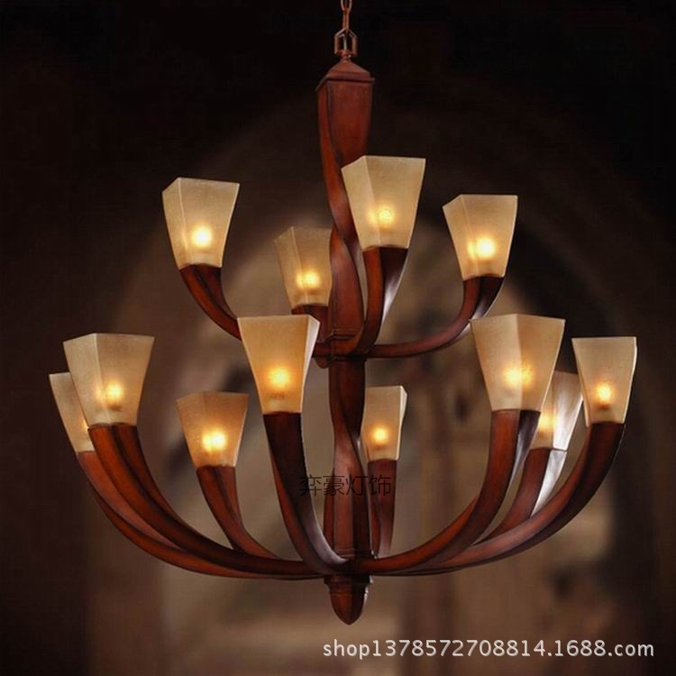 2015 luxury resin three tier hotel clubs mahogany staircase chandelier lamp chandelier long wood sticks church led chandelier in chandeliers from lights