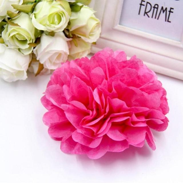 5pcsset pink paper flowers ball wedding celebration paper poms 5pcsset pink paper flowers ball wedding celebration paper poms crepe flower garlands artificial ball mightylinksfo