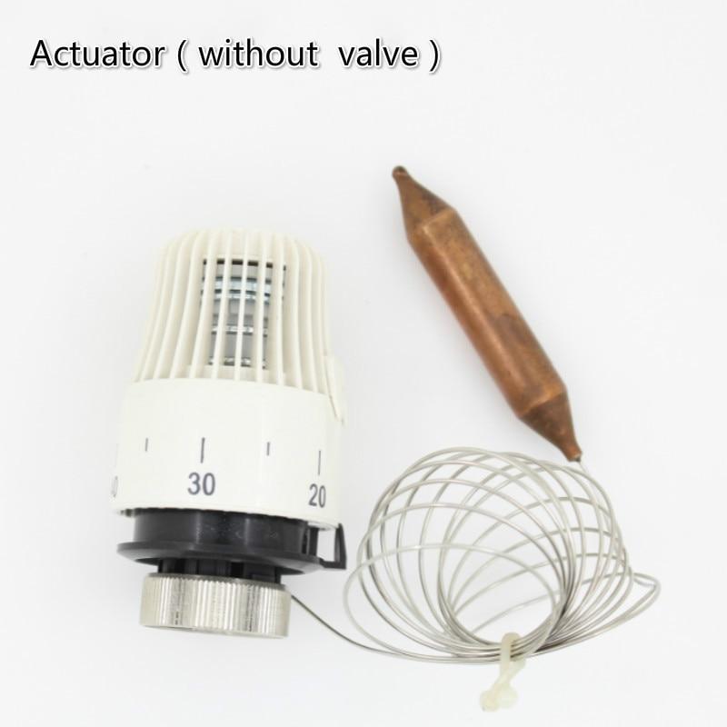 Thermostatic radiator valve control for Floor heating system M30*1 5 Remote  controller brass valve Angel valve straight valve
