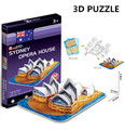 3D Puzzle Cubicfun Architecture Cardboard Model Toy Sydney Opera House World Famous Building Assembly DIY Toys For Kids