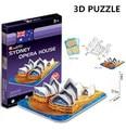 3d puzzle brinquedo modelo de papelão sydney opera house cubicfun arquitetura mundialmente famoso edifício montagem diy brinquedos para as crianças