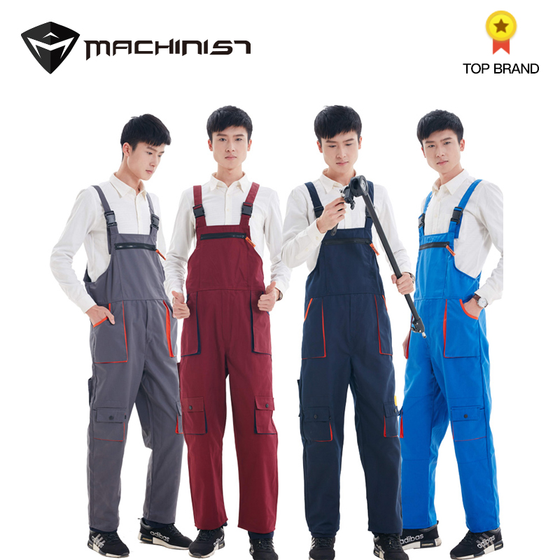 Conjoined Work Pants Suit Auto Repair 4 S Shop Painting Outdoor Engineering Mechanics Repair Workshop Overall Labor Insurance
