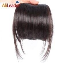 Alileader аккуратные спереди зажим в волос взрыва короткие прямые синтетические волосы Накладные Fringe шиньоны чёрный; коричневый блондинка