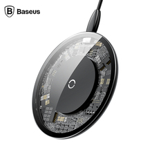 Baseus 10W QI Wireless charger For iPhone X wireless charging for Samsung Galaxy S9 xiaomi mobile phone USB pad