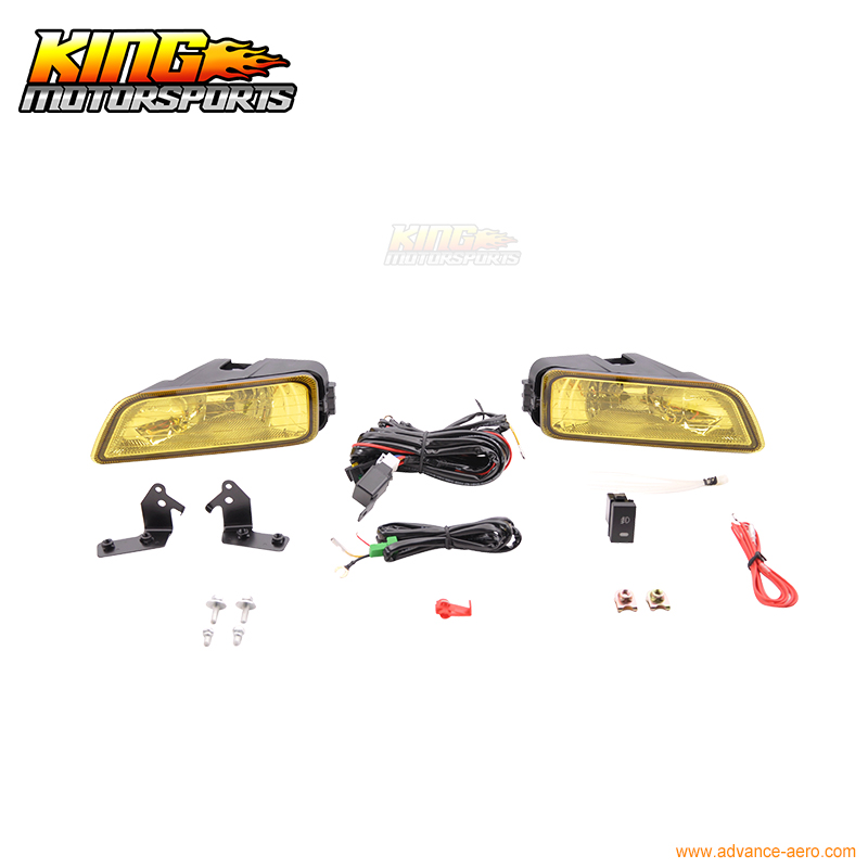 Fit For JDM 06-07 Accord 4Dr Inspire UC1 UC2 CM5 4Dr Fog Light Yellow Lens & Wiring Kit USA Domestic Free Shipping fit for 02 08 toyota solara camry corolla oe fog light smoke lamps wiring kit included usa domestic free shipping hot selling
