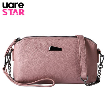 Genuine leather women's shoulder bags 2018 women clutch leather chain shoulder messenger bags brand crossbody bags for lady фото