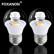 bedroom lighting guide. foxanon e27 led lamp 120v 220v real 5w cob bulb e14 guided light beam candle brighter than 5736 corn certified fcc ce rohs bedroom lighting guide