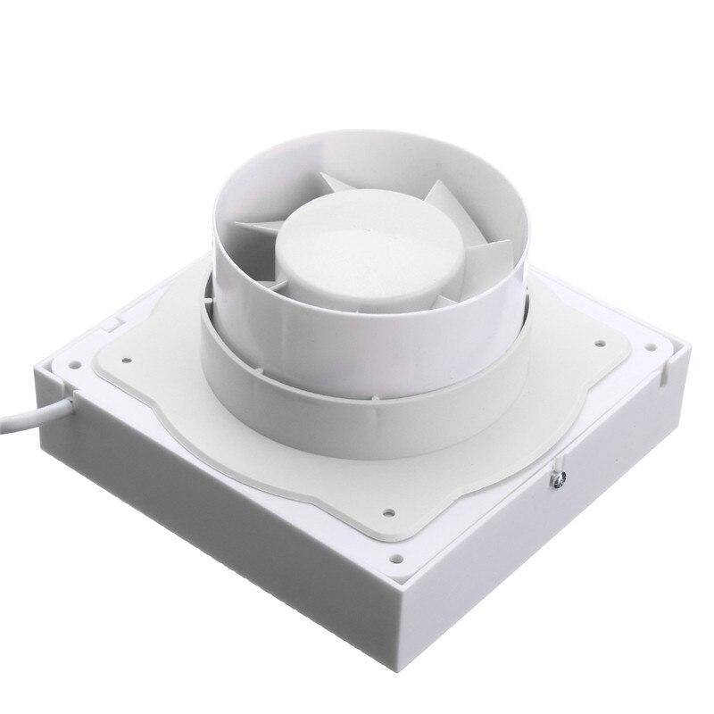4inch Ventilation Exhaust Fan Bathroom Ceiling Wall Mount Blower Window Wall Kitchen Toilet Bath 12W Fan Hole Size 100x100mm