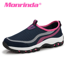 Monrinda Slip-on Sneakers Women Men Breathable Summer Sport Shoes Rubber Sole Woman Running Shoes Outdoor Jogging Walking Shoes