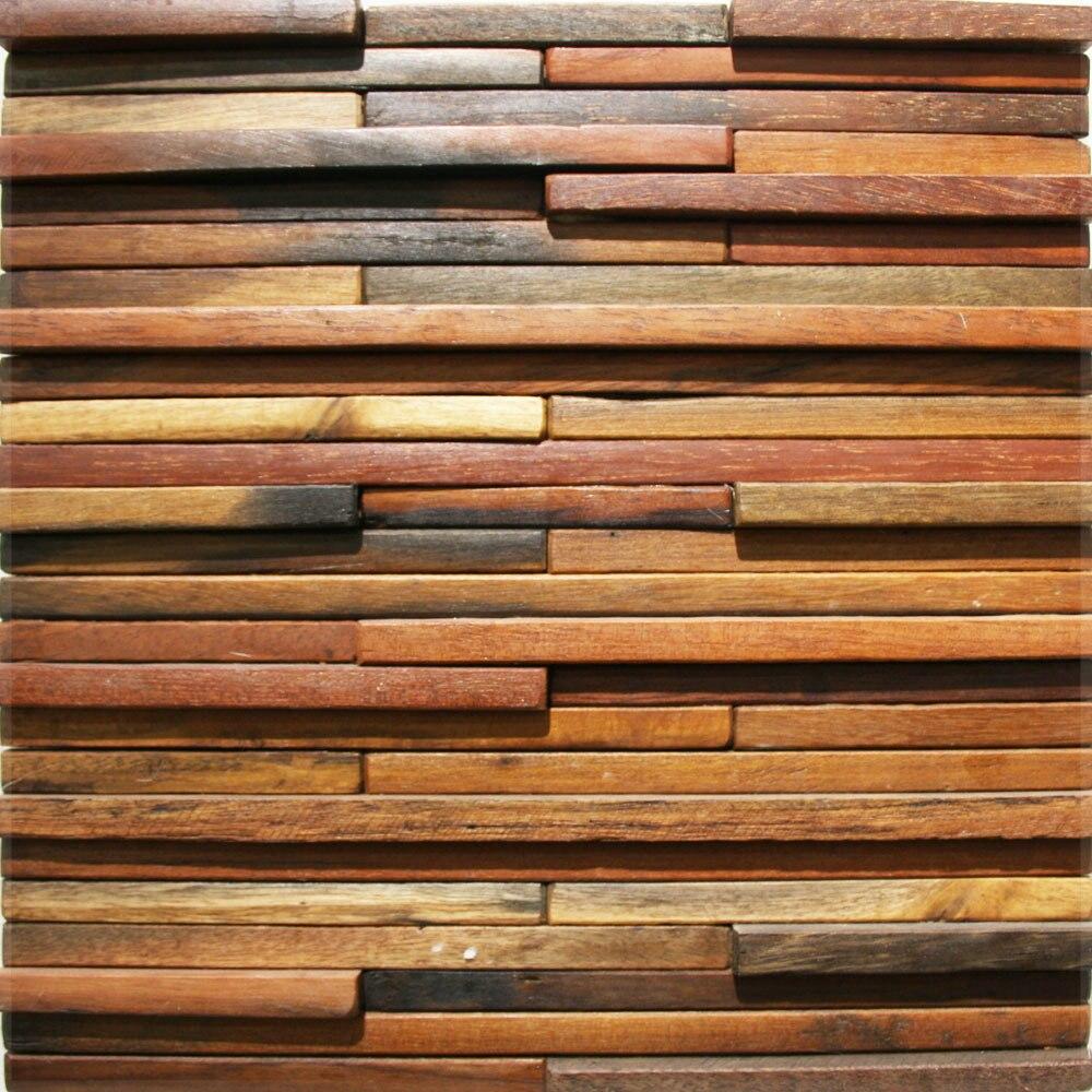 De Madera Natural Azulejos De Mosaico De Paneles Para Sala De  ~ Panelados De Madera Para Paredes