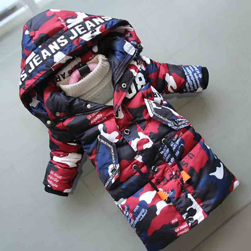 BibiCola Boys Down Cotton Coats 2018 Winter New Jacket Boy Children Parka Coat Children Fashion Hooded Camouflage Long Outerwear смартфон htc desire 620g dual sim matt gray light gray