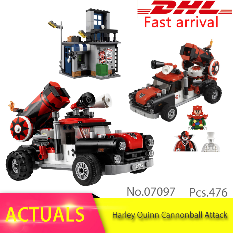 Batman Series 70921 476pcs The Quinn Cannonball Attack Model Building Block Brick Educational Toys For Children 07097 Gift ...