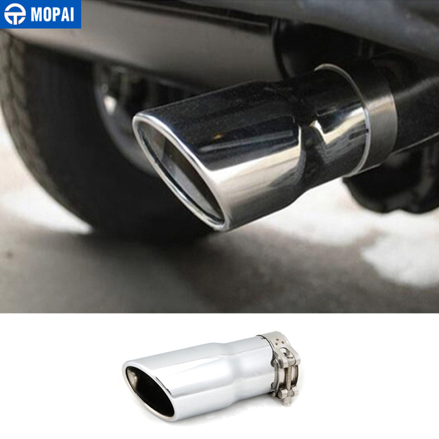MOPAI Car Exterior Rear Exhaust Exhause Tail Pipe Muffler For Jeep Wrangler  20011 Up Stainless Accessories