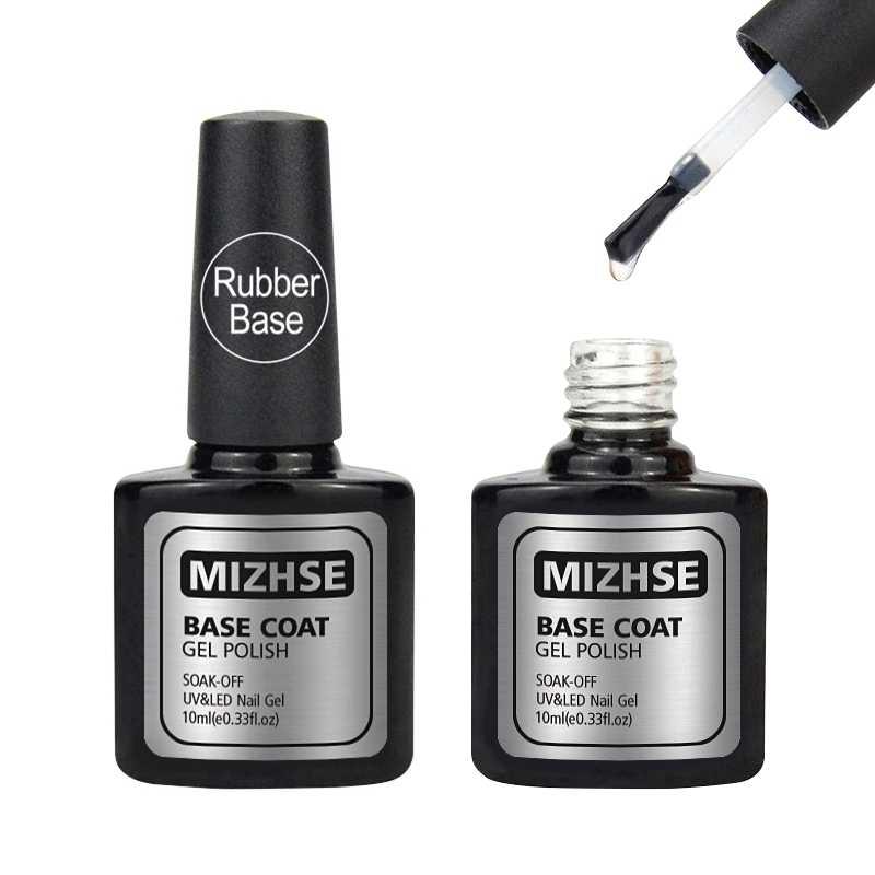 MIZHSE 10 мл гелевая резиновая основа УФ быстрая сухая основа гель Лаковая основа для ногтей резиновая грунтовка для дизайна ногтей Vernis A Ongle