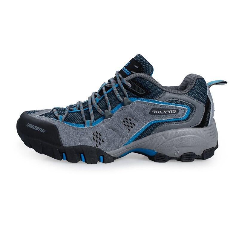 ФОТО 2016 Men Shoes Outdoor Trekking Anti-Slip Men Hiking Shoes Hard-Wearing Walking Shoes New Arrival Comfortable Men Hiking Sneaker