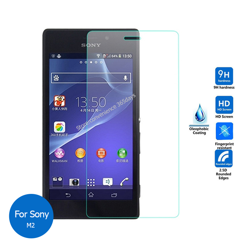 Tempered Glass For Sony Xperia M M2 M4 Aqua M5 T2 T3 Ultra SP Screen Protector 2.5 Safety Protective Film On M 2 4 5 T 3