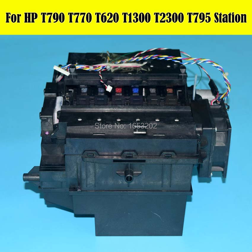 1 Set 90% New Original Service Clean Station Assembly CH538-67040 For HP Designjet T610 T620 T770 T790 T795 T1300 Printer
