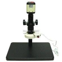 2.0mp HD промышленных Цифровые микроскопы Камера VGA CVBS USB AV ТВ выходы + 10x-180x оптический C-Mount объектив + LED огни + держатель