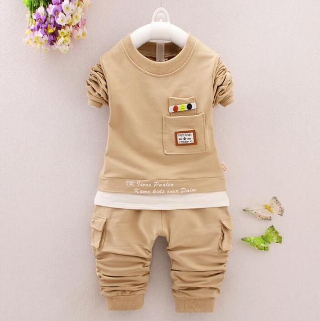 2017 fashion Spring new style children clothing set baby boys clothing set casual sport suit kids outfits suit 4 color